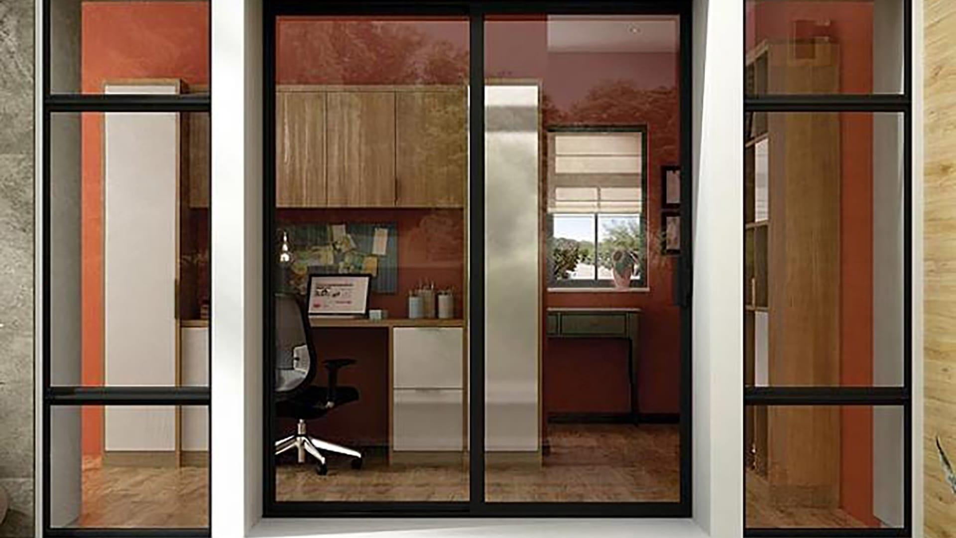Milgard photogrids 2col sgd aluminum - Sliding Patio Doors