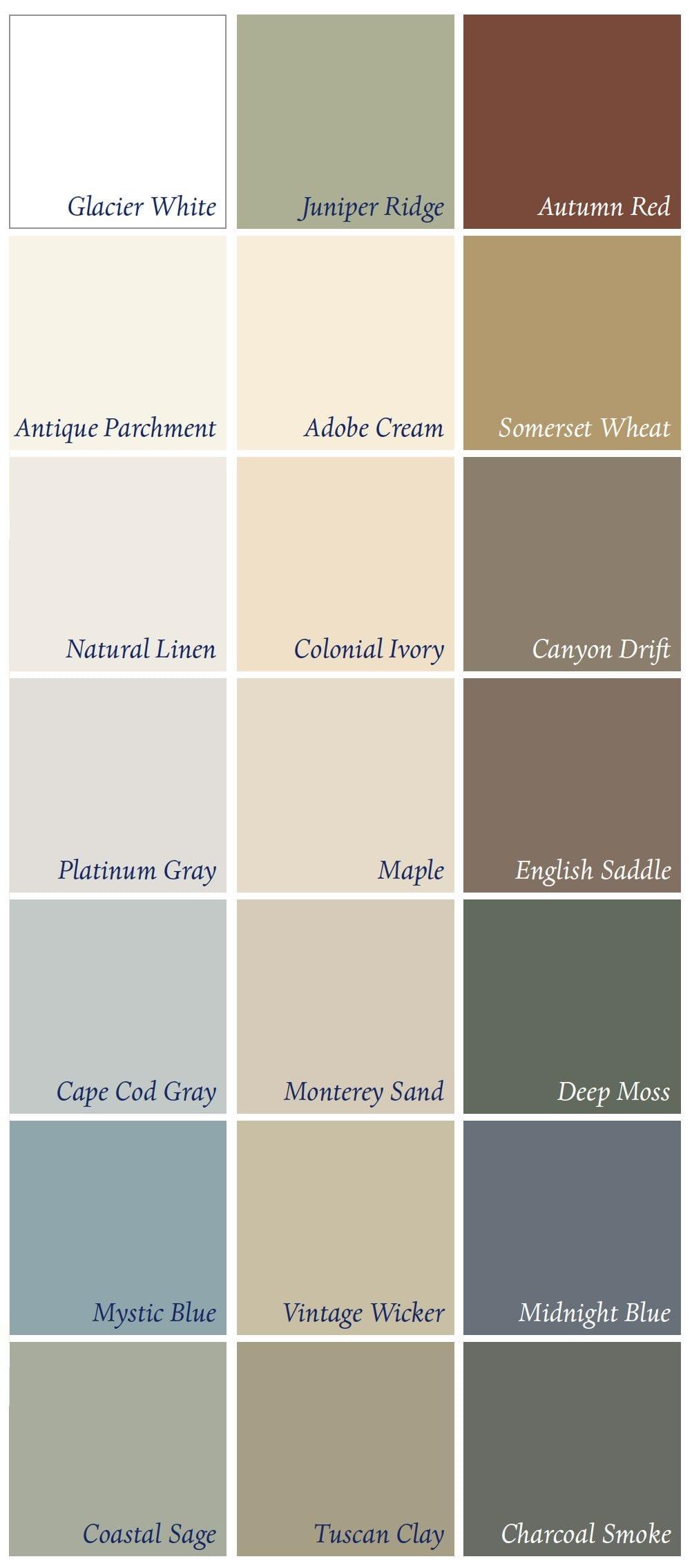 colors - Prodigy Siding